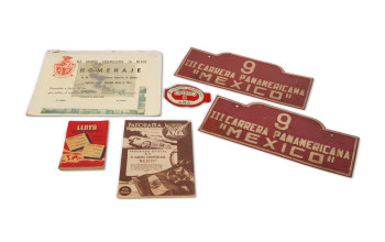 1952-carrera-panamericana-event-plates-cardboard-tribute-plaque-driver-armband-and-official-race-program-