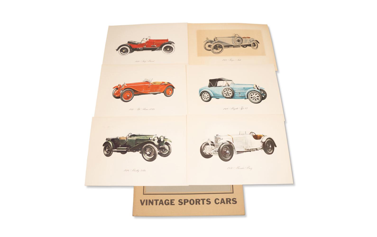 Vintage Sports Cars Prints