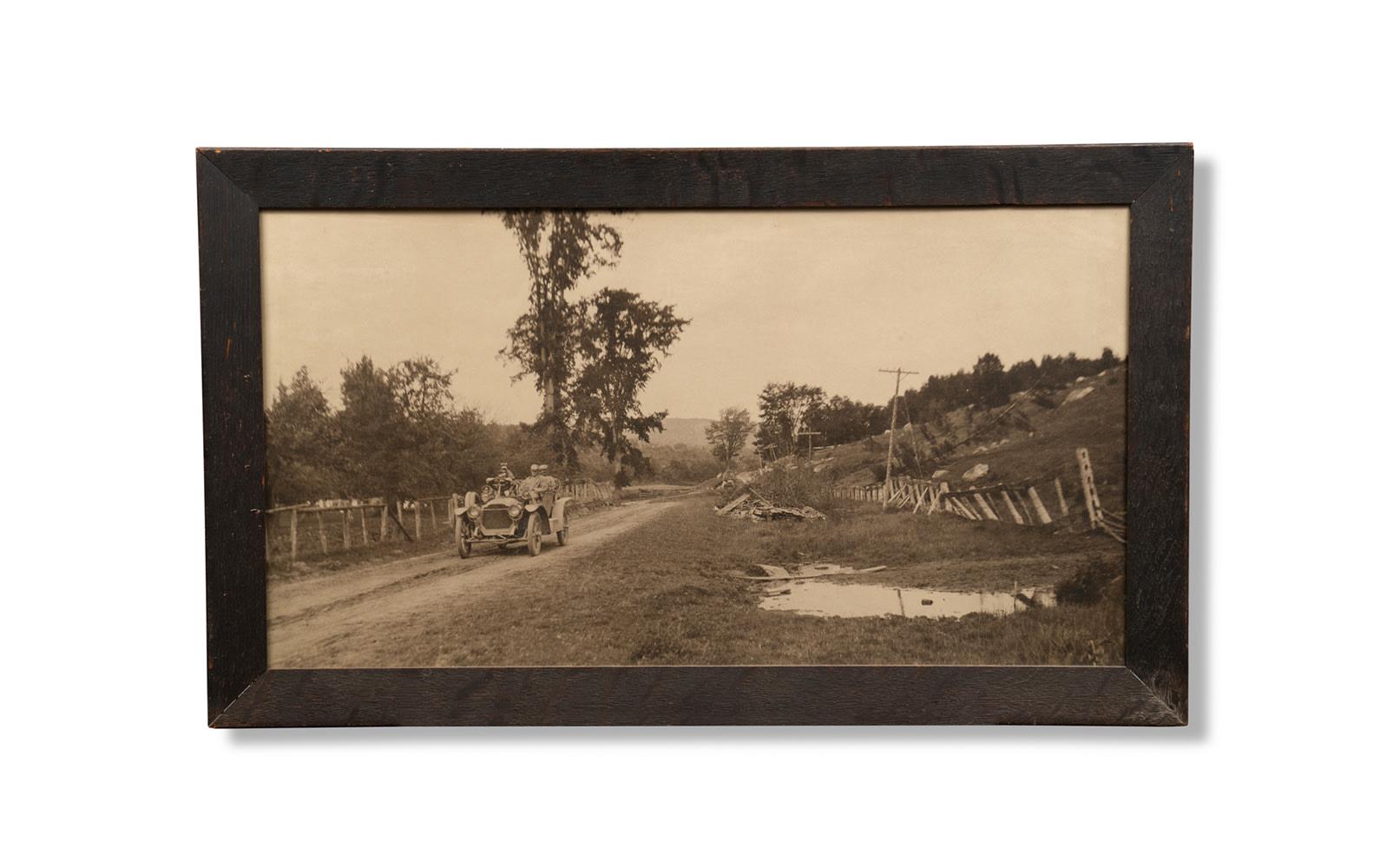 Period Photograph of a Packard on the Glidden Tour, Framed