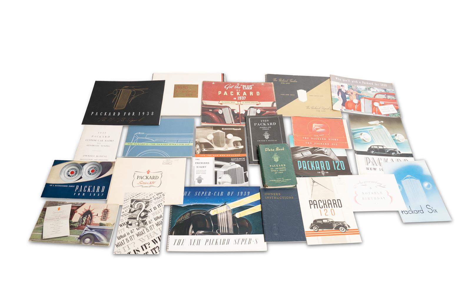 Assorted Packard Sales Literature, 1933–1939