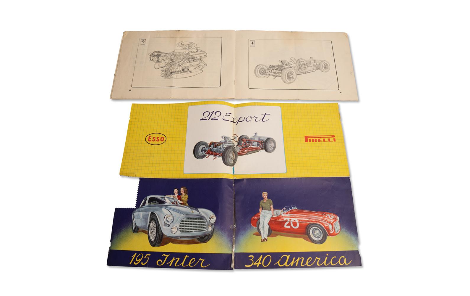 Ferrari Tipo 166/195/212/340 Instruction Manual and 30 Anni di Esperienze Brochure