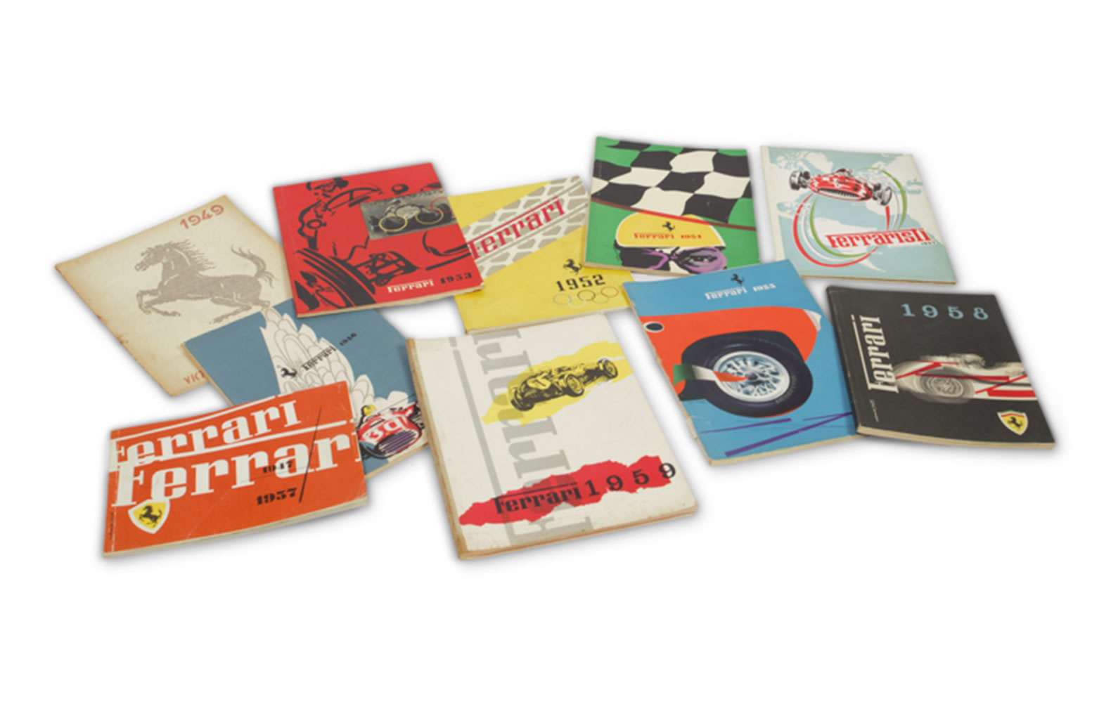 Collection of Ferrari Yearbooks