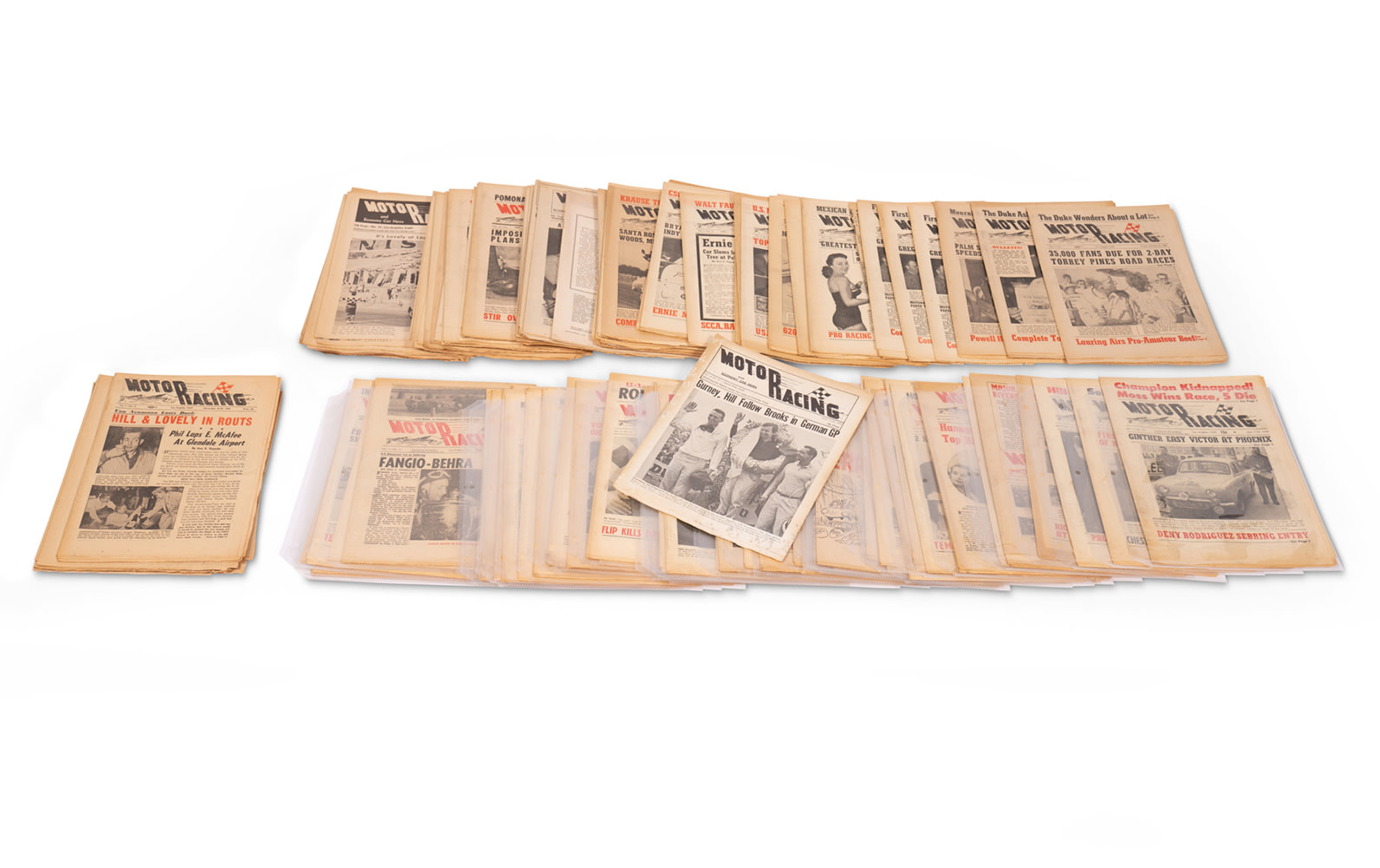 Assorted Motor Racing Newsletters, 1955–1962