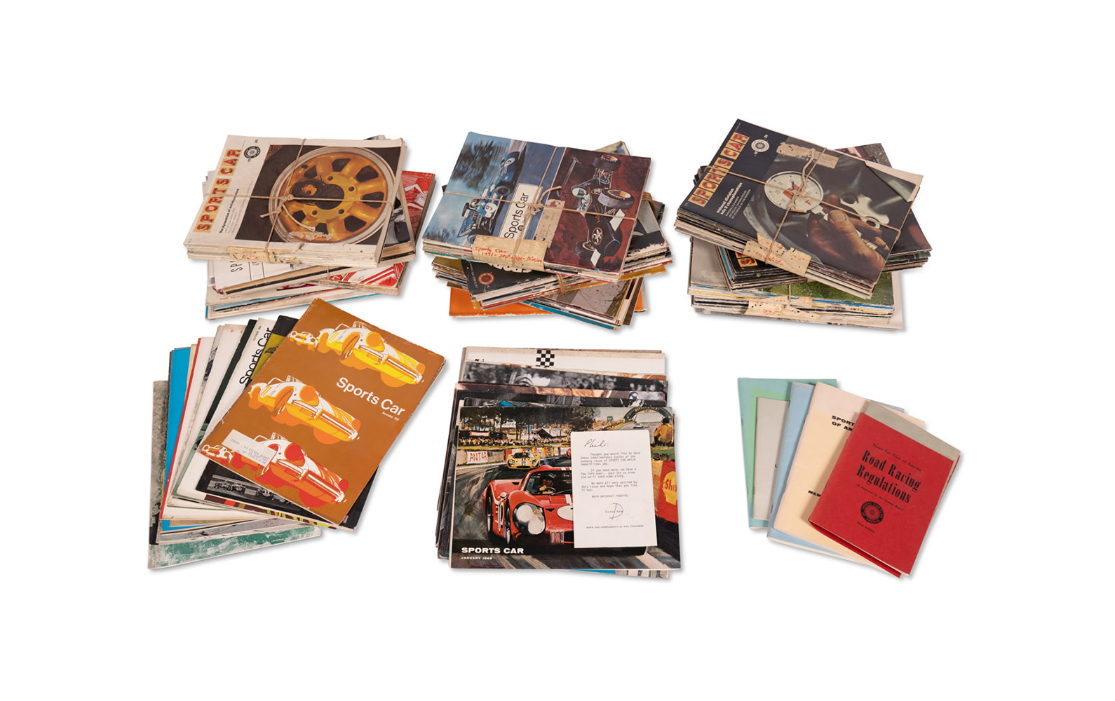 Assorted SCCA Publications and Sports Car Magazines