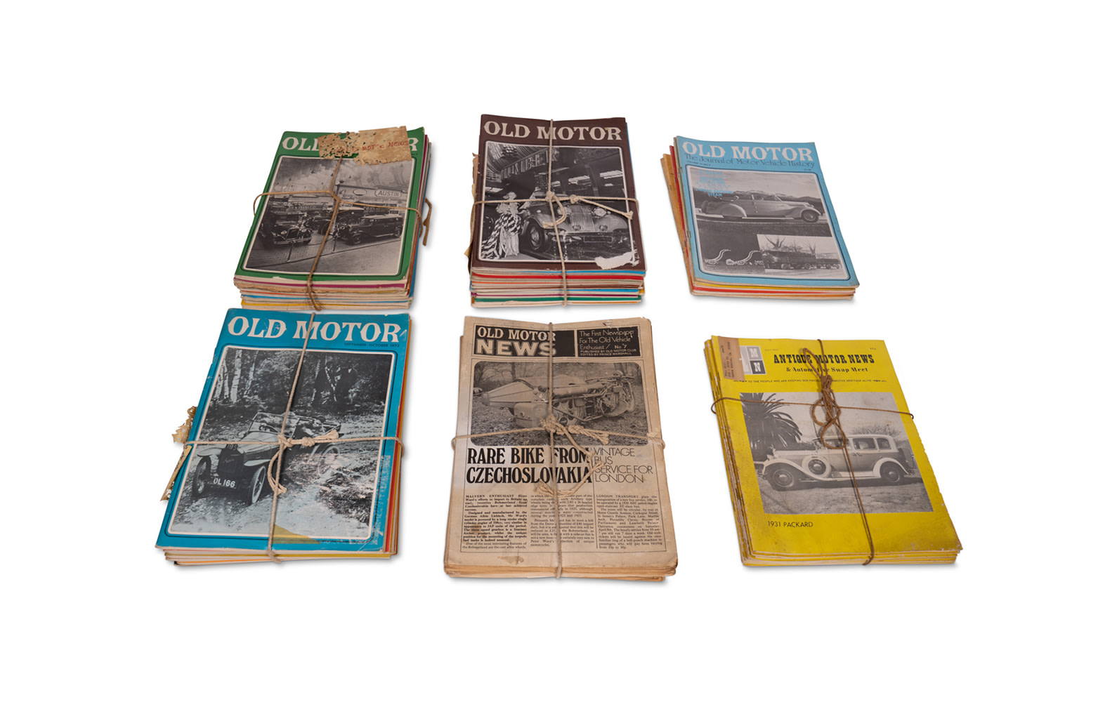 Assorted Old Motor and Automotive News Magazines