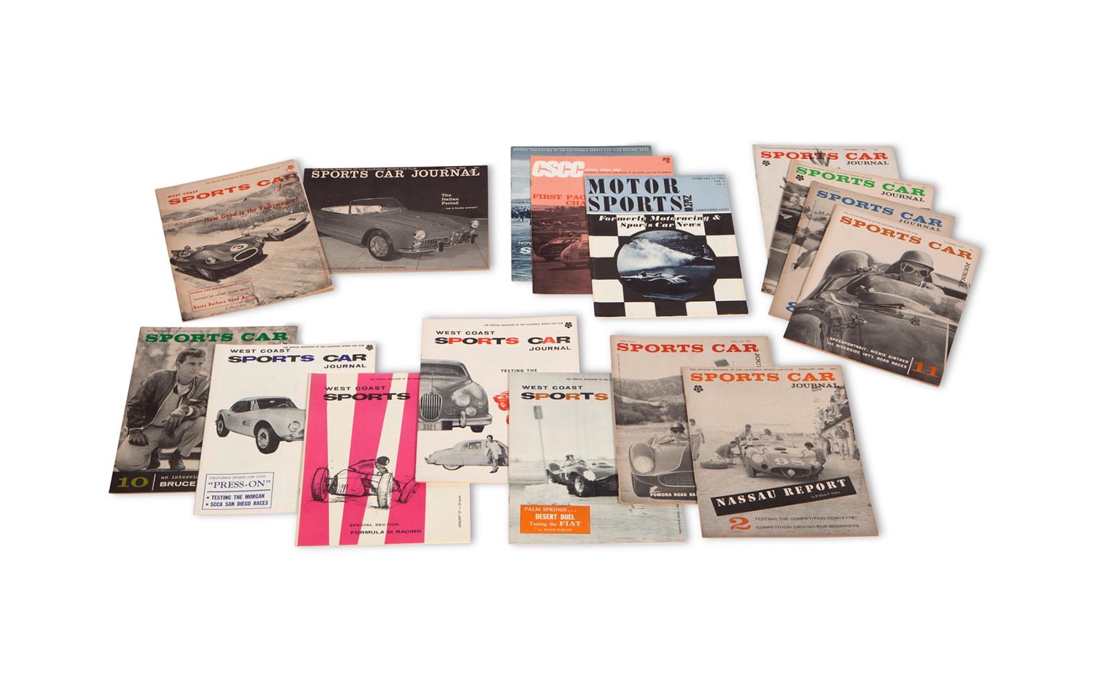 Assorted West Coast Sports Car Journal Magazines