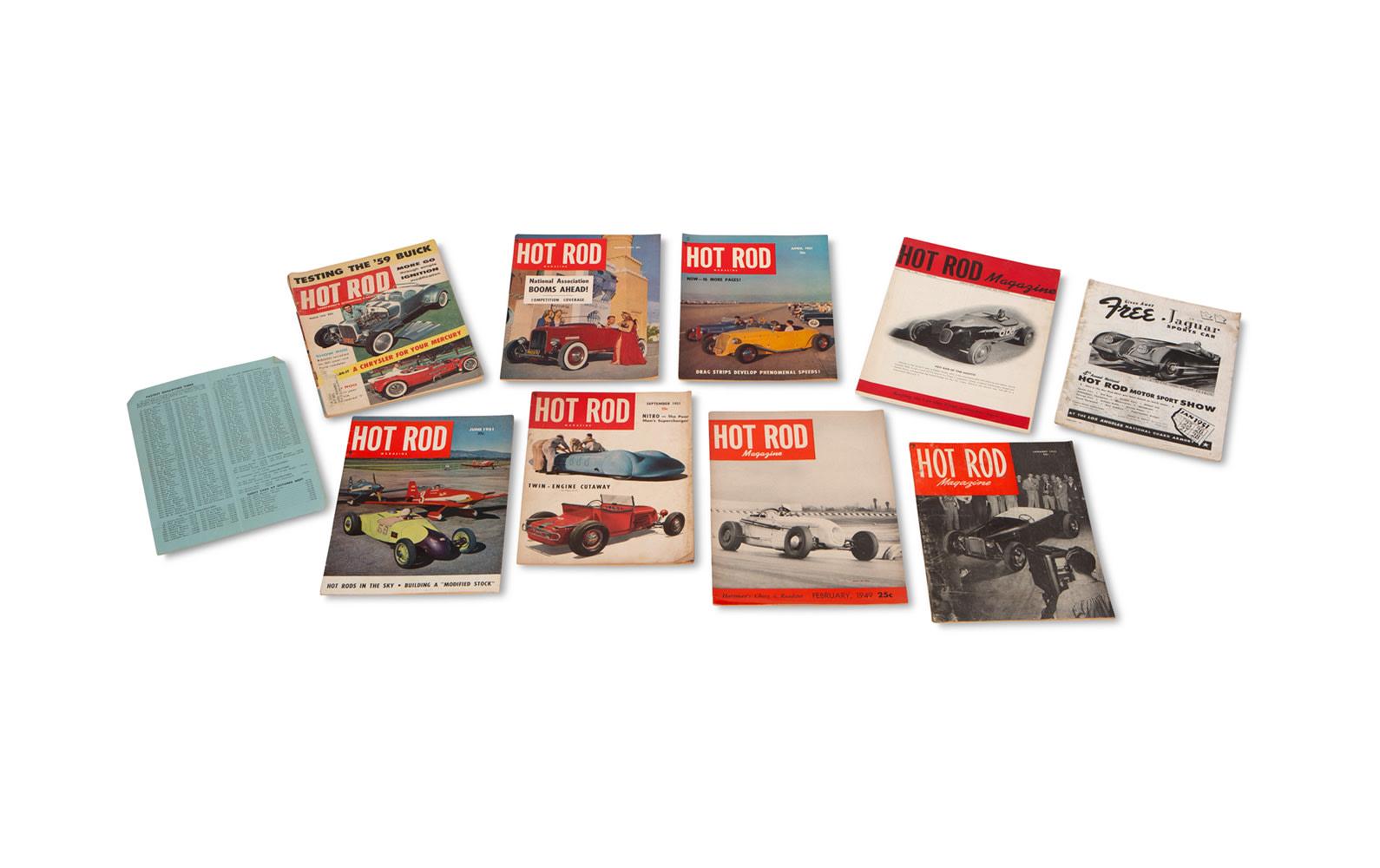 Assorted Hot Rod Magazines