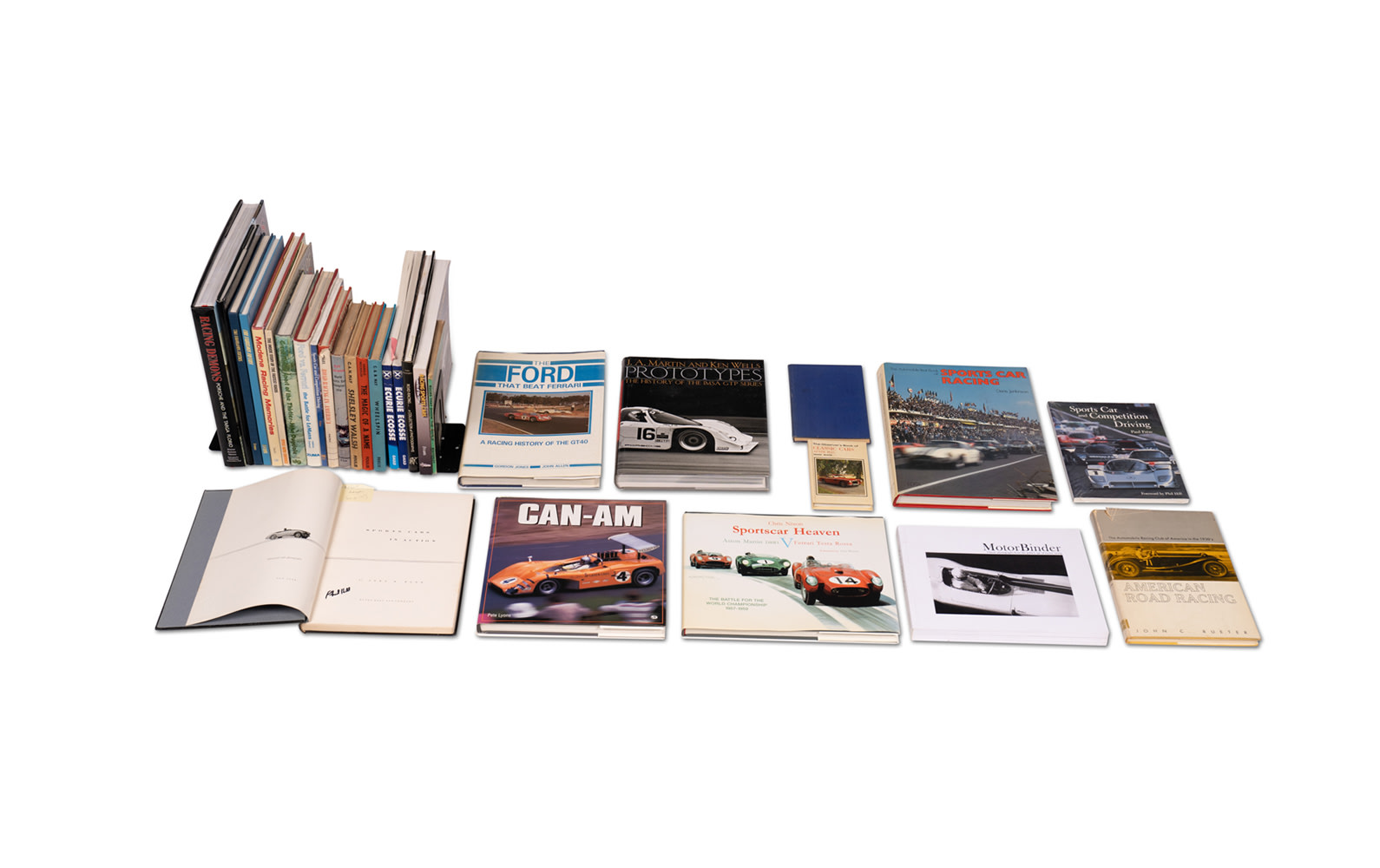 Assorted Books on Sports Car Racing