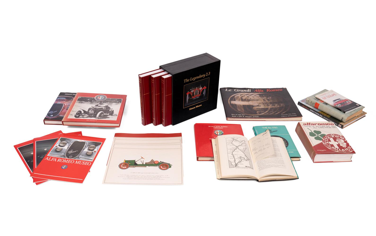 Assorted Books on Alfa Romeo