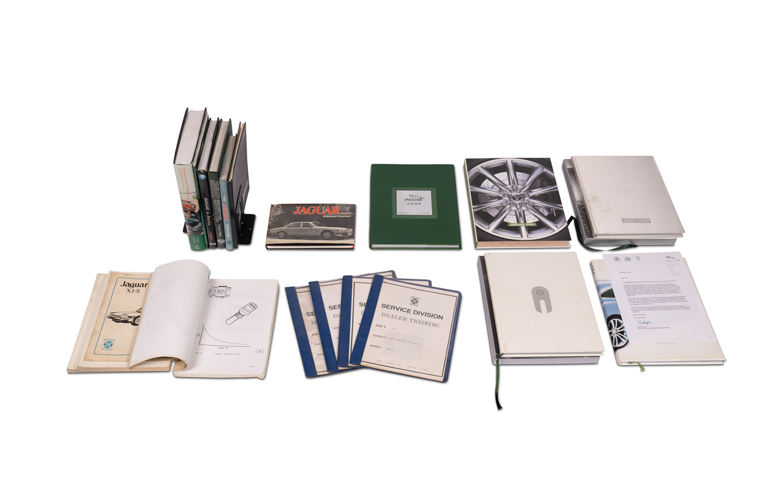 Assorted Books and Annuals on Jaguar
