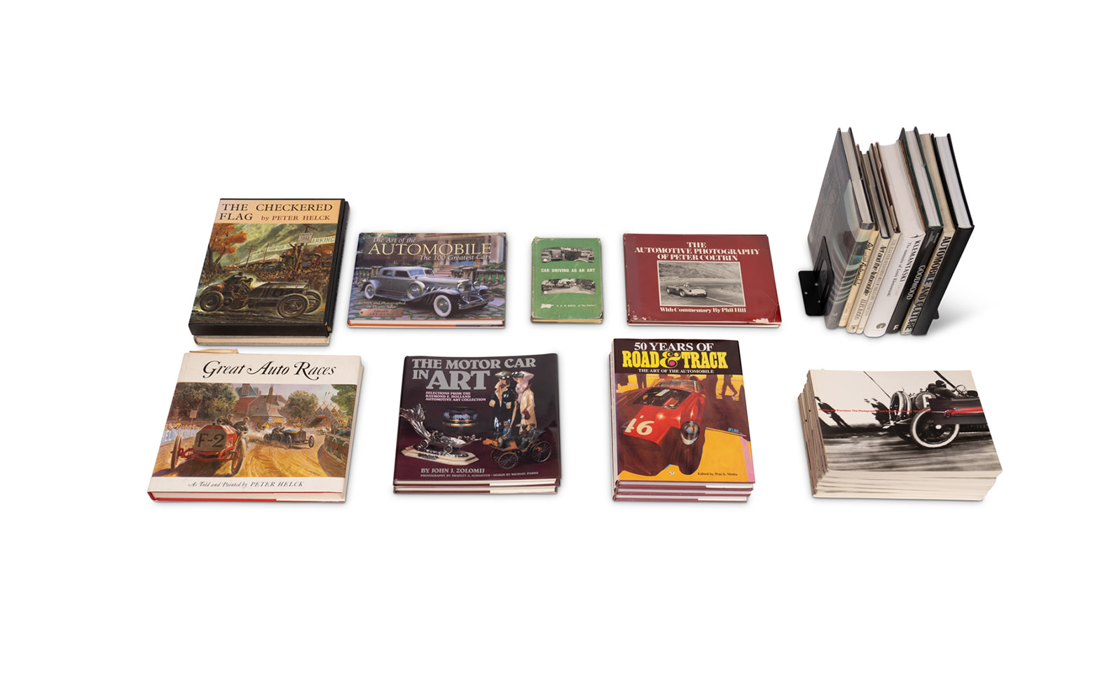 Assorted Books on Automobiles as Art