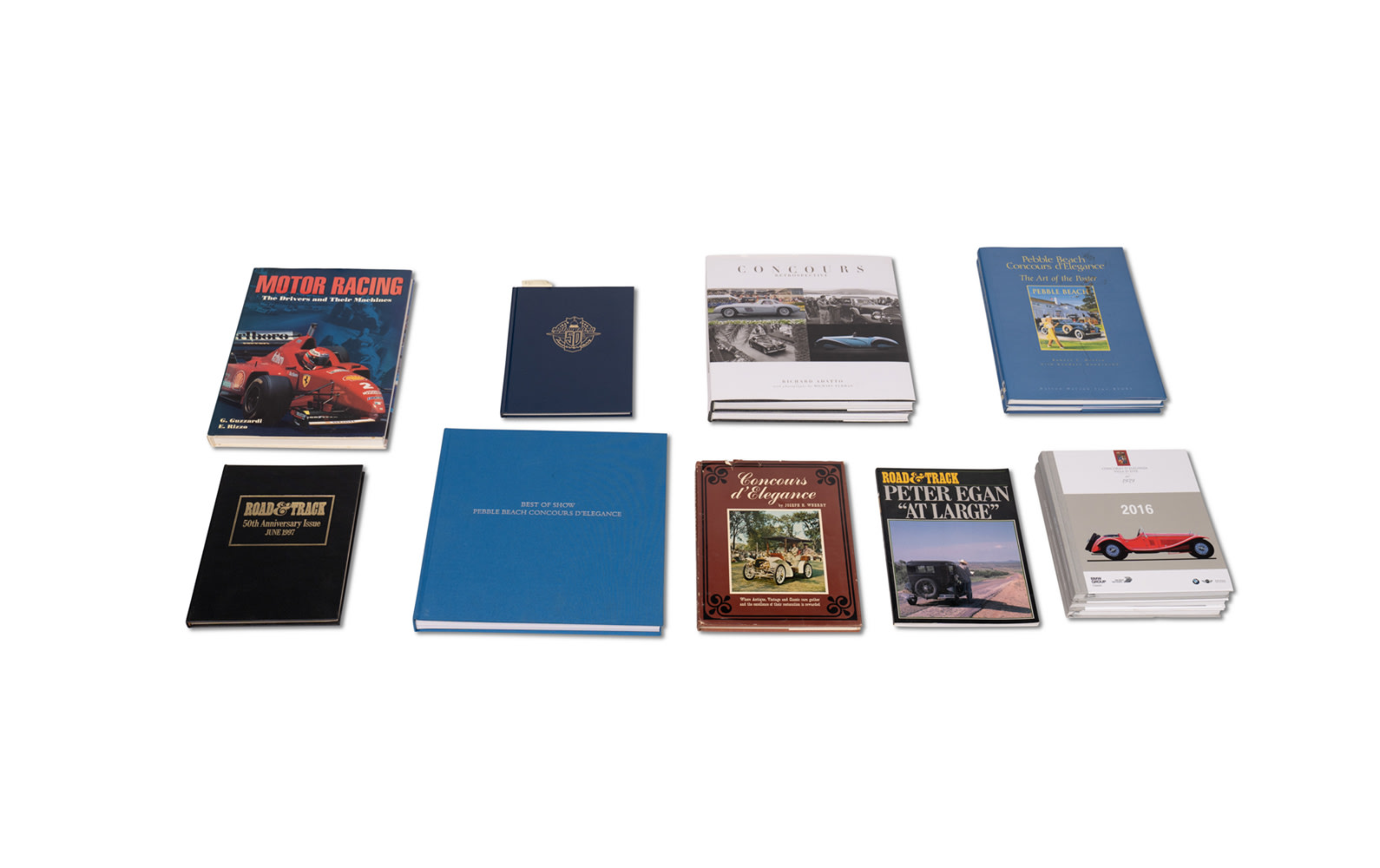 Assorted Books on Concours d'Elegance