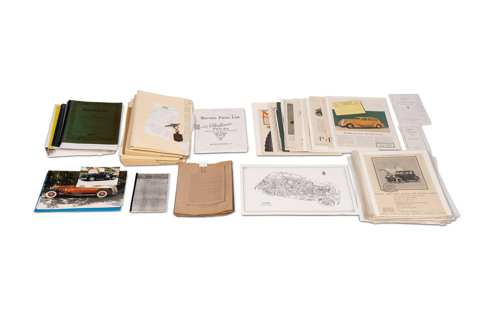 Assorted Correspondence, Photographs, and Files Relating to the Packard Motor Car Company
