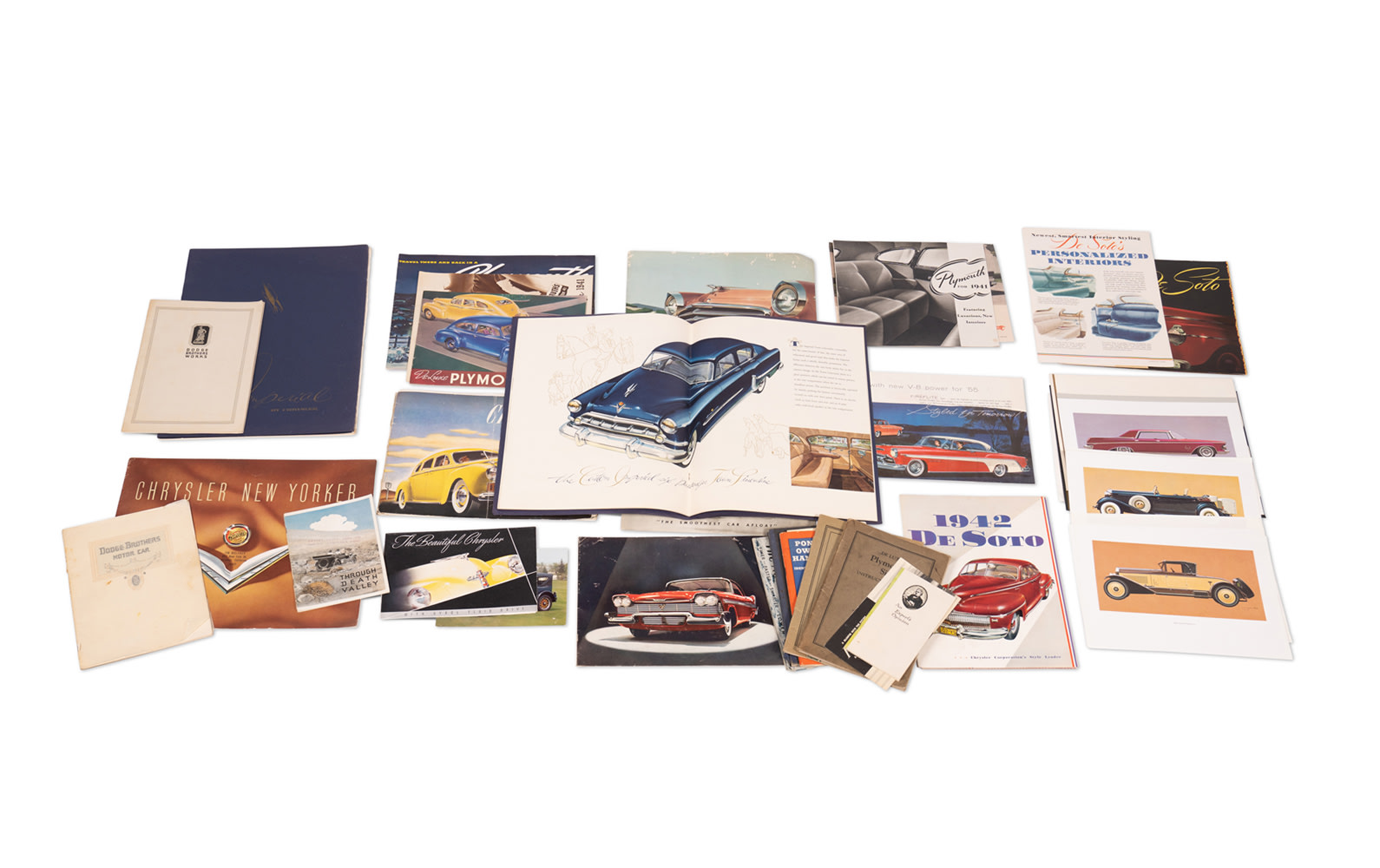 Assorted Chrysler, DeSoto, Dodge, Imperial, and Plymouth Literature