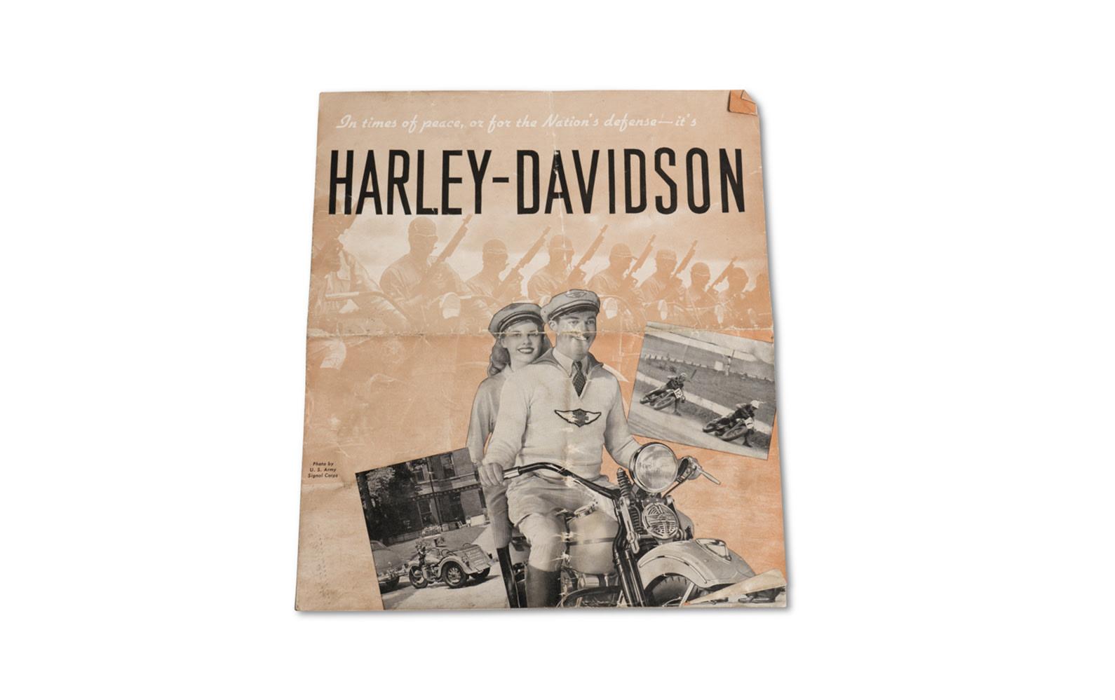 Harley-Davidson Motorcycle Sales Brochure, 1942