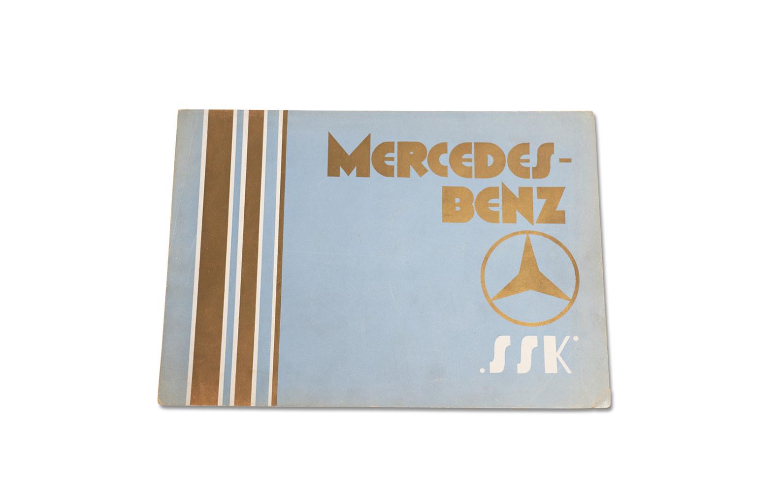 Mercedes-Benz Model SSK Sales Brochure