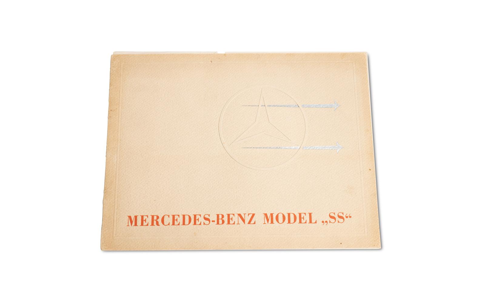 Mercedes-Benz Model SS Sales Brochure