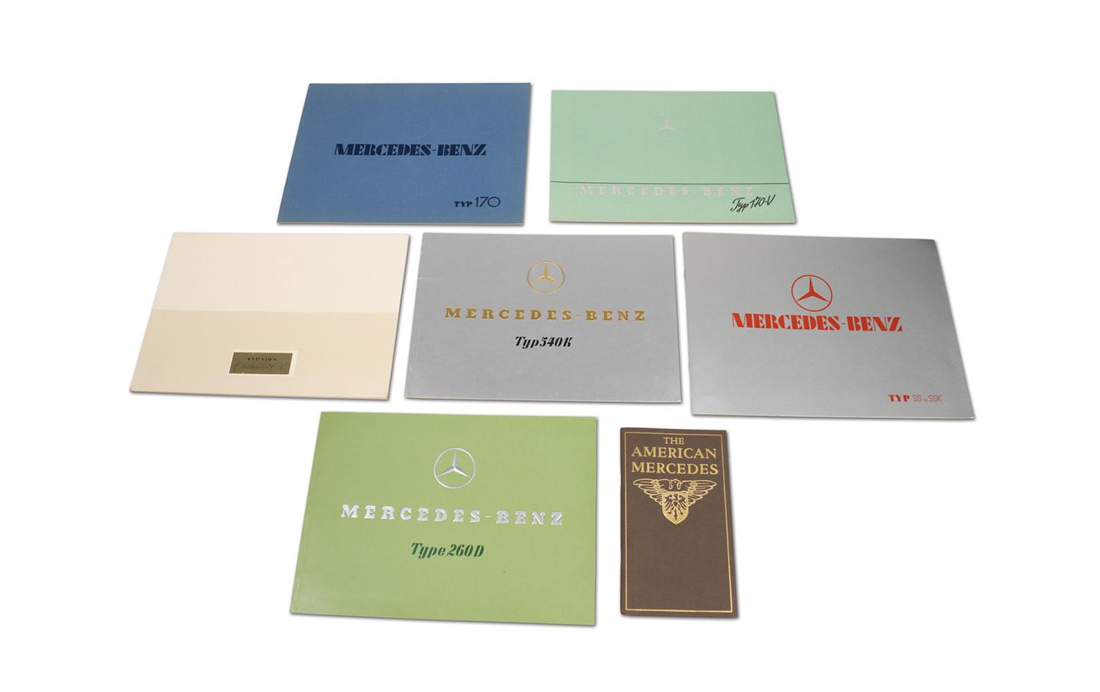 Assorted Mercedes-Benz Sales Brochures, Reprints