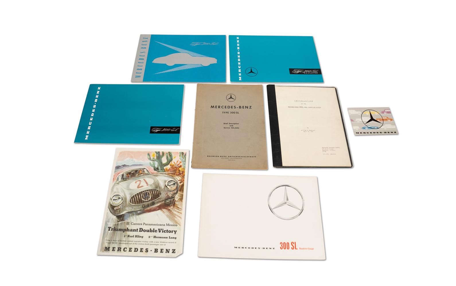 Mercedes-Benz 300 SL Gullwing and Roadster Literature