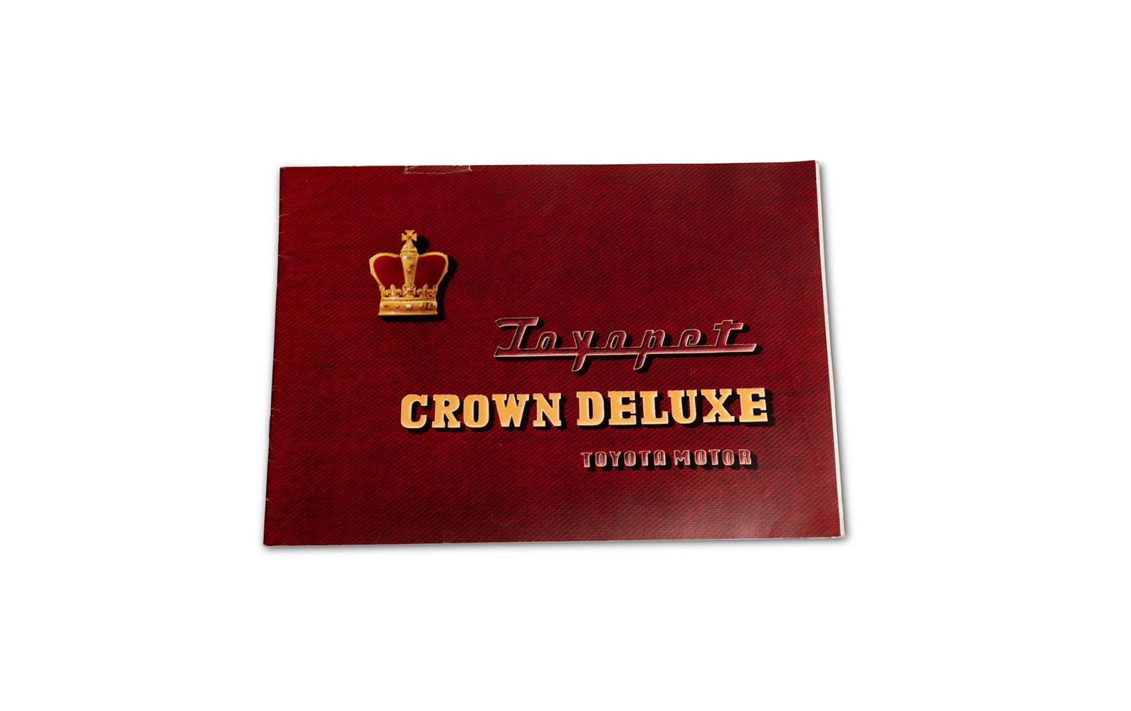 Toyota Toyopet Crown Deluxe Sales Brochure