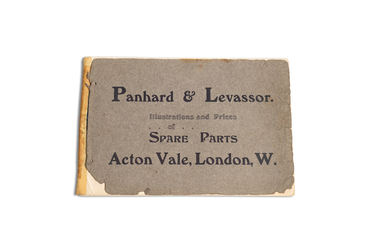 Panhard & Levassor Spare Parts Catalogue, c. early-1900s