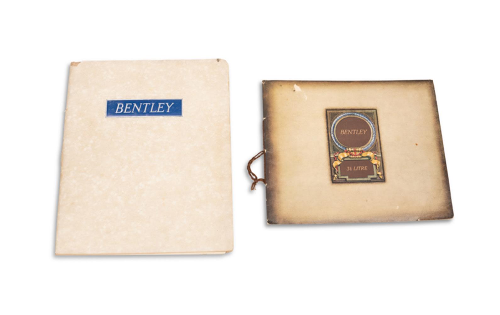 Bentley Sales Brochures for 3 1/2 and 4 1/4 Litre Models