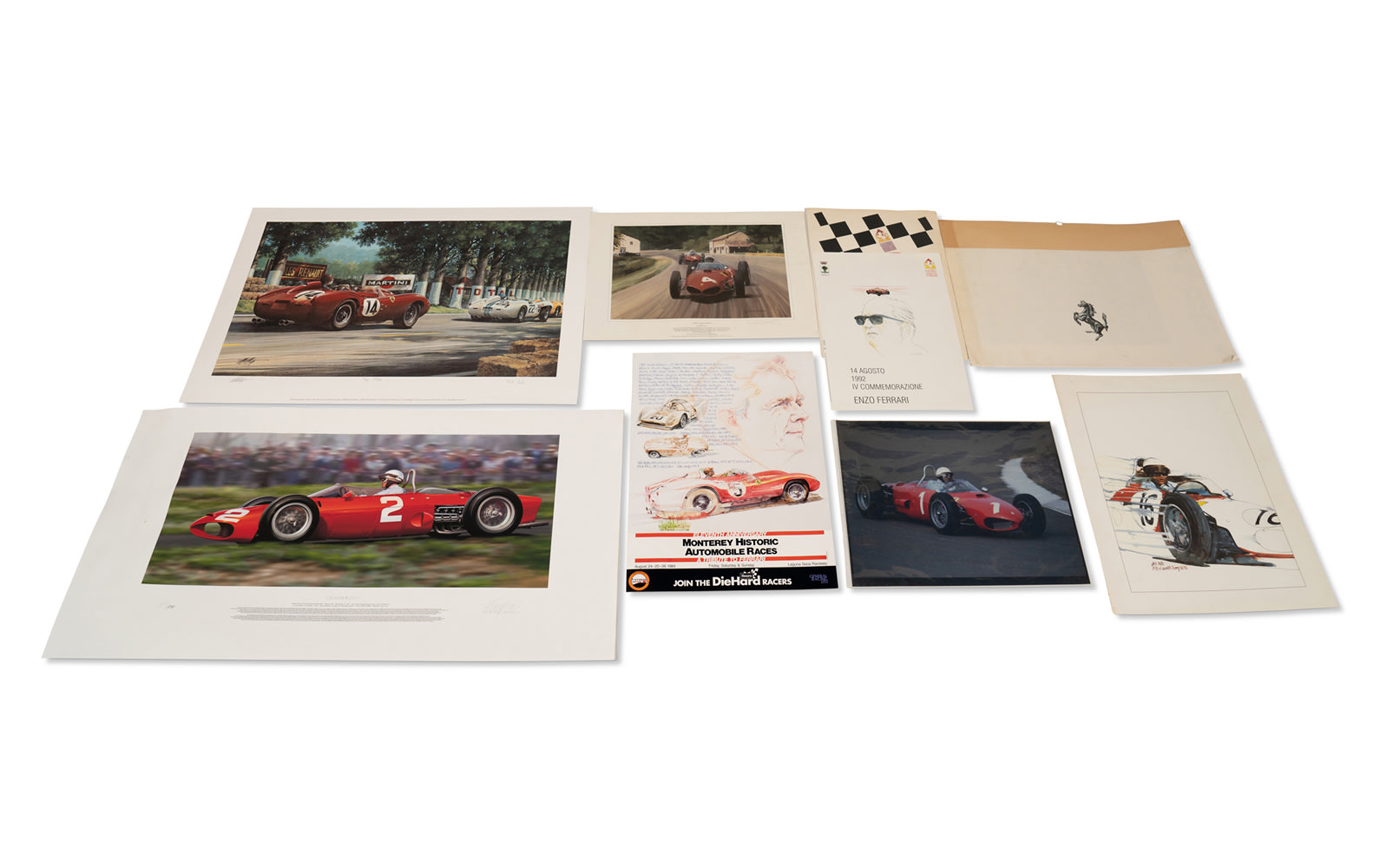 Assorted Ferrari Artwork and Decor, Unframed