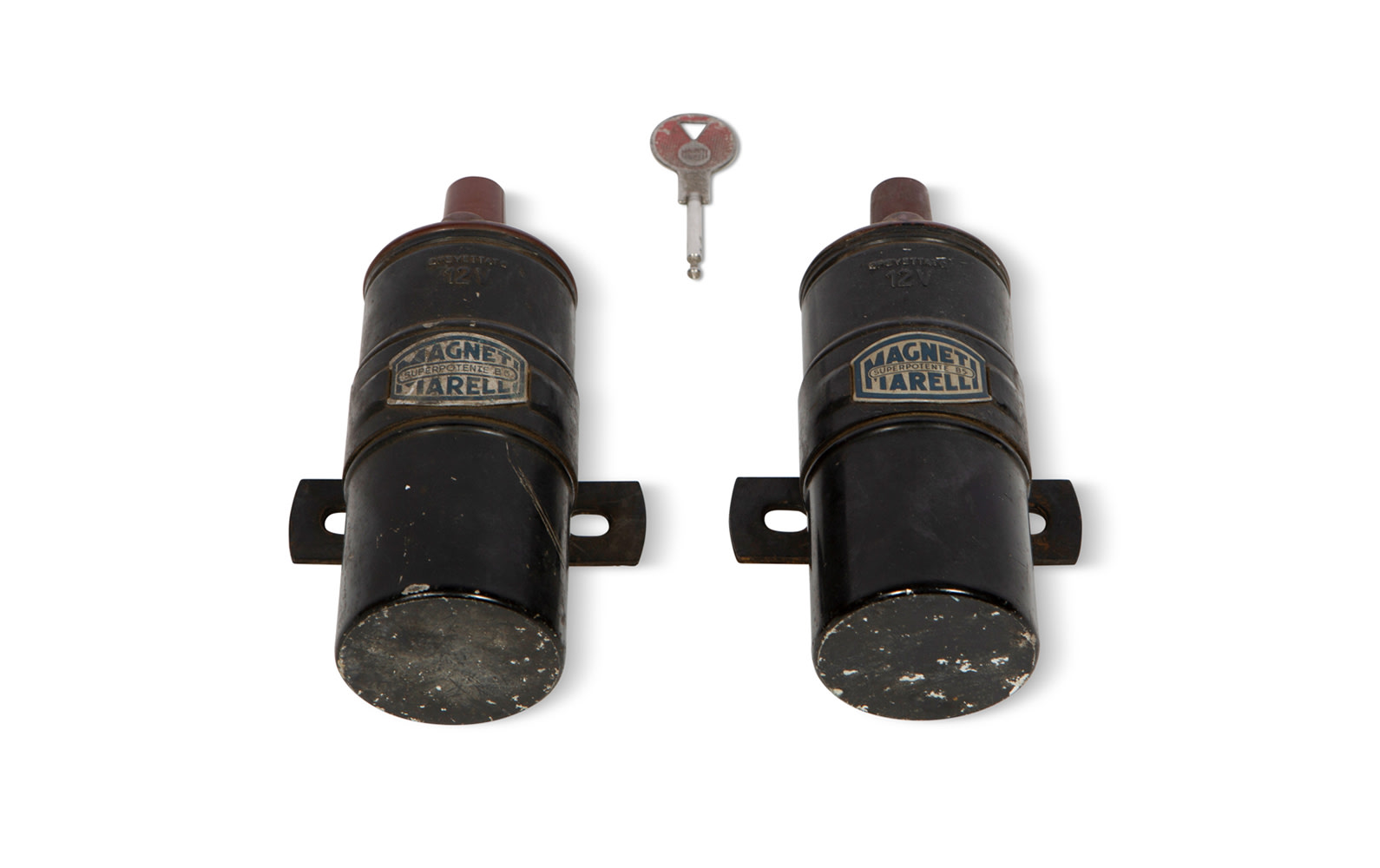 Magneti Marelli Ignition Key and Two Superpotente B5 Ignition Coils