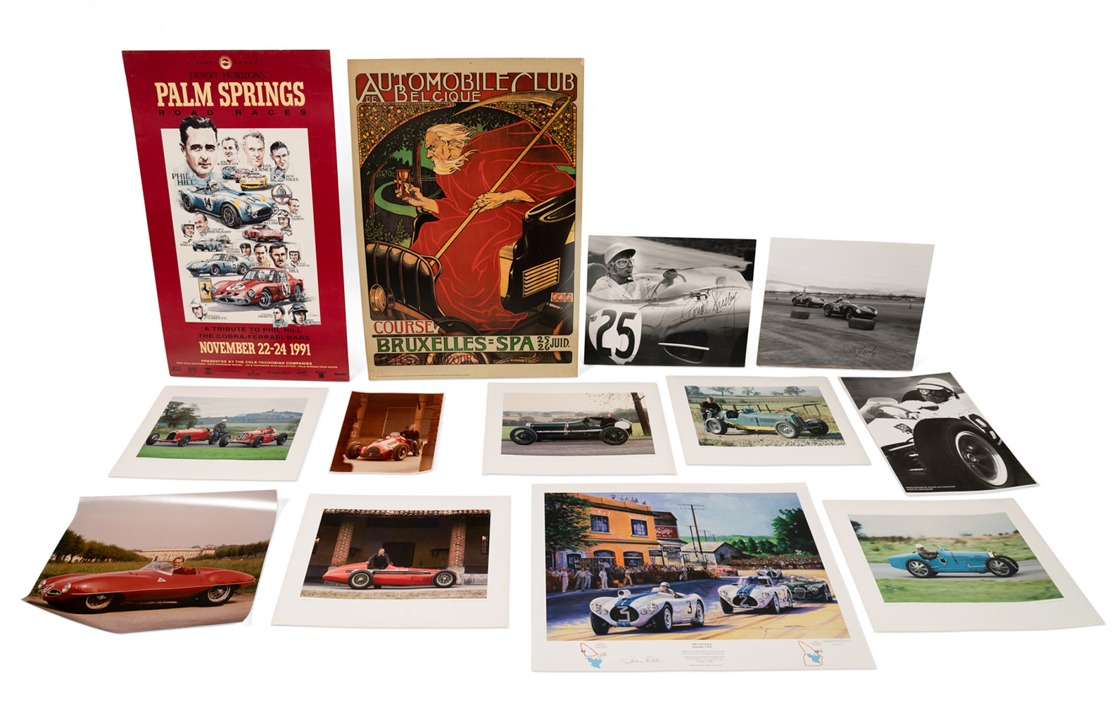 Selection of Automotive Posters and Prints, Unframed