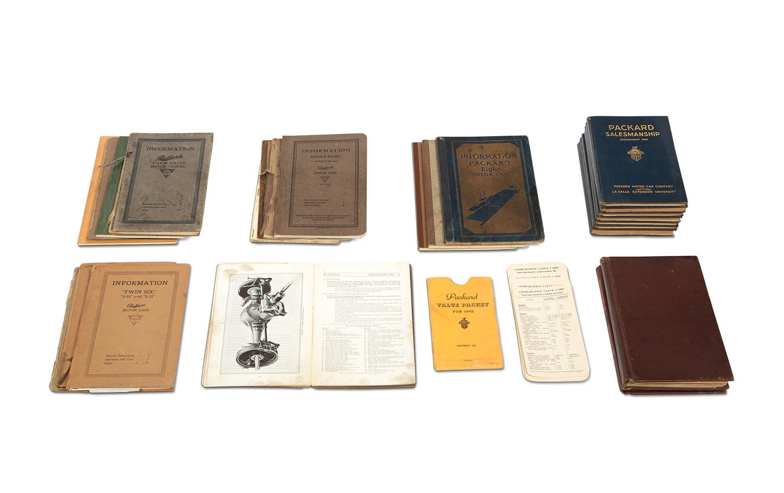 Assorted Packard Salesmanship Literature and Model Information Books, c. 1907–1947
