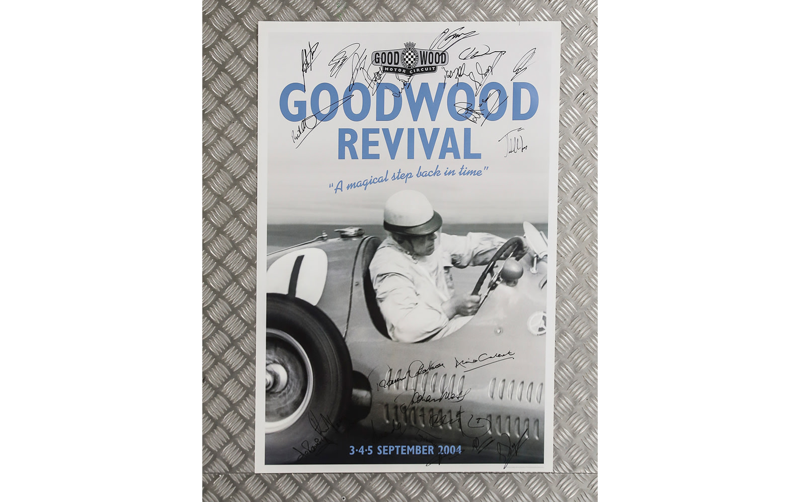Signed 2004 Goodwood Revival Poster