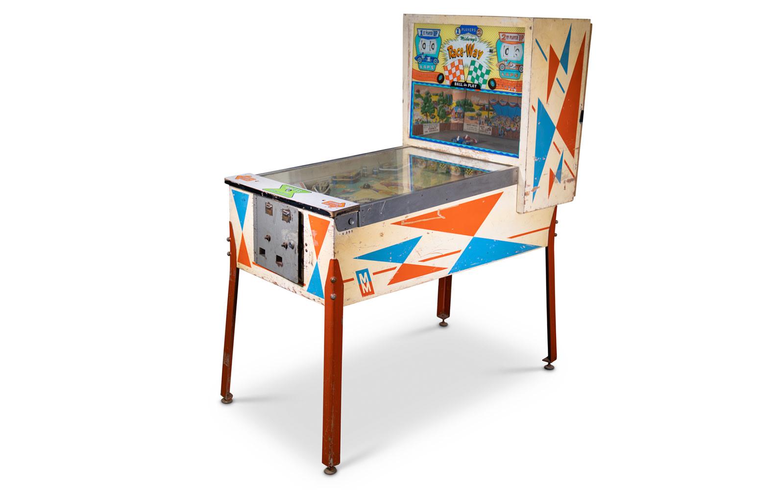 c. 1963 Midway Race-Way Pinball Machine