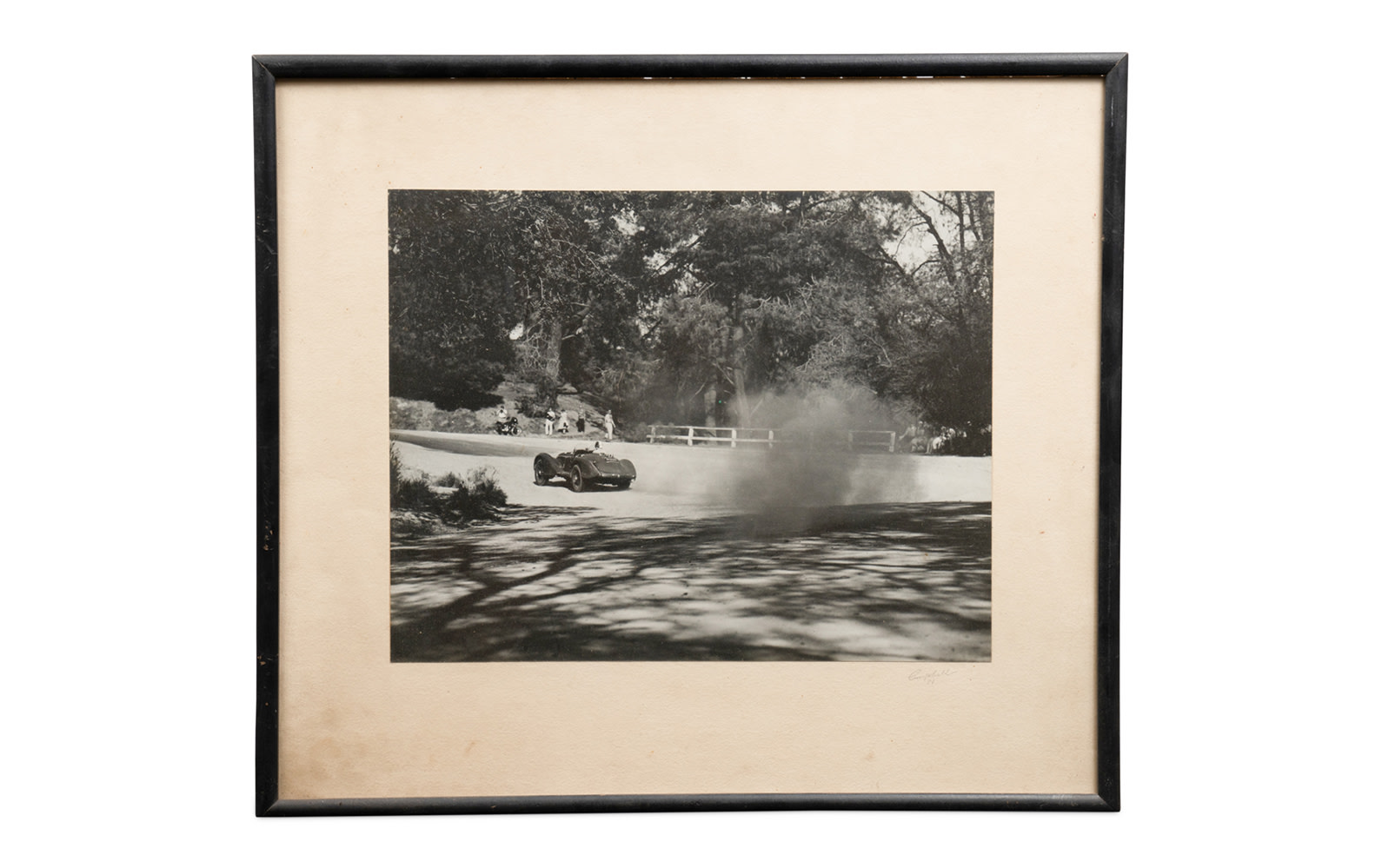 Photograph of Phil Hill Driving His Alfa Romeo 8C 2900B Mille Miglia at Pebble Beach, Framed
