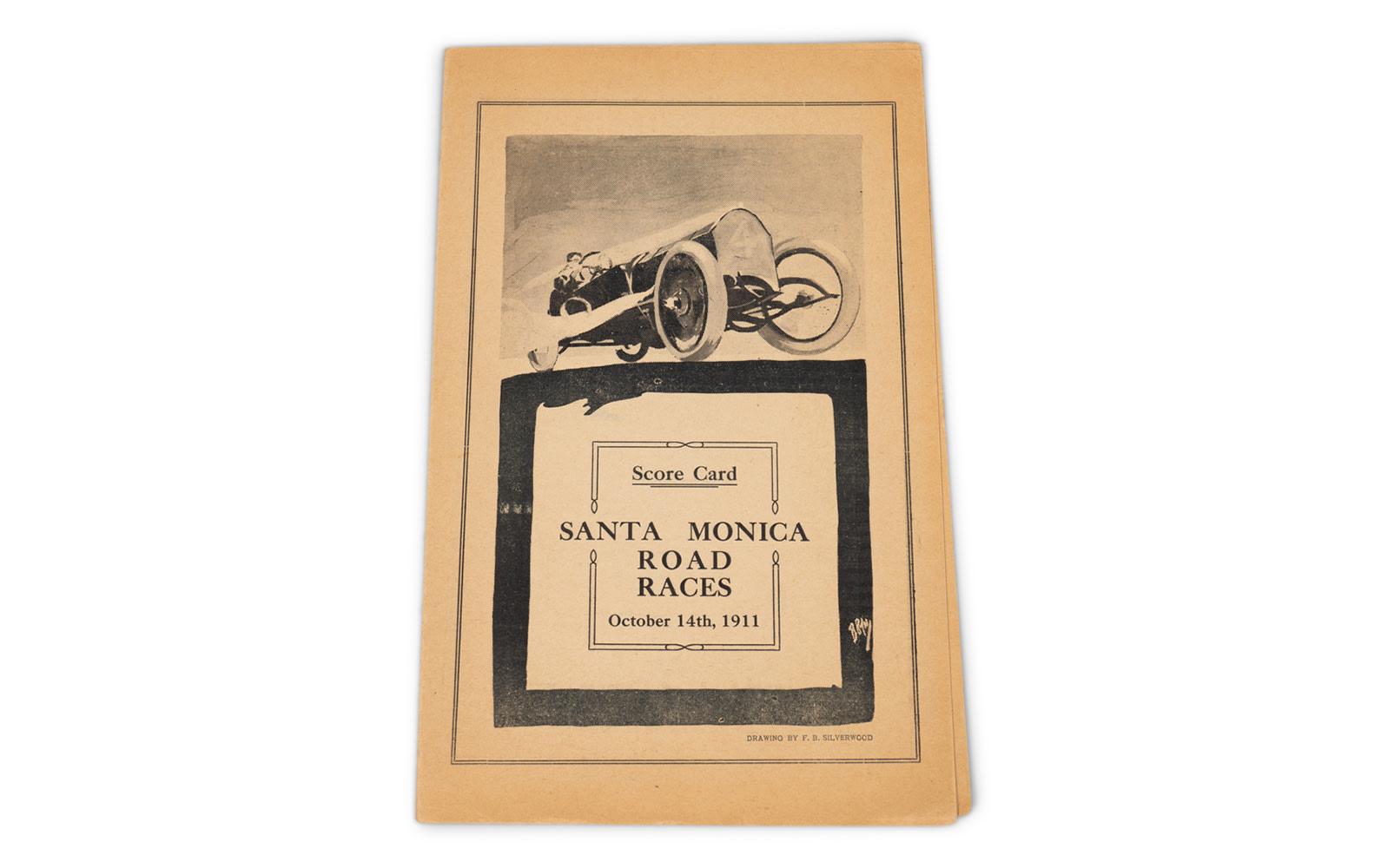 1911 Santa Monica Road Race Score Card