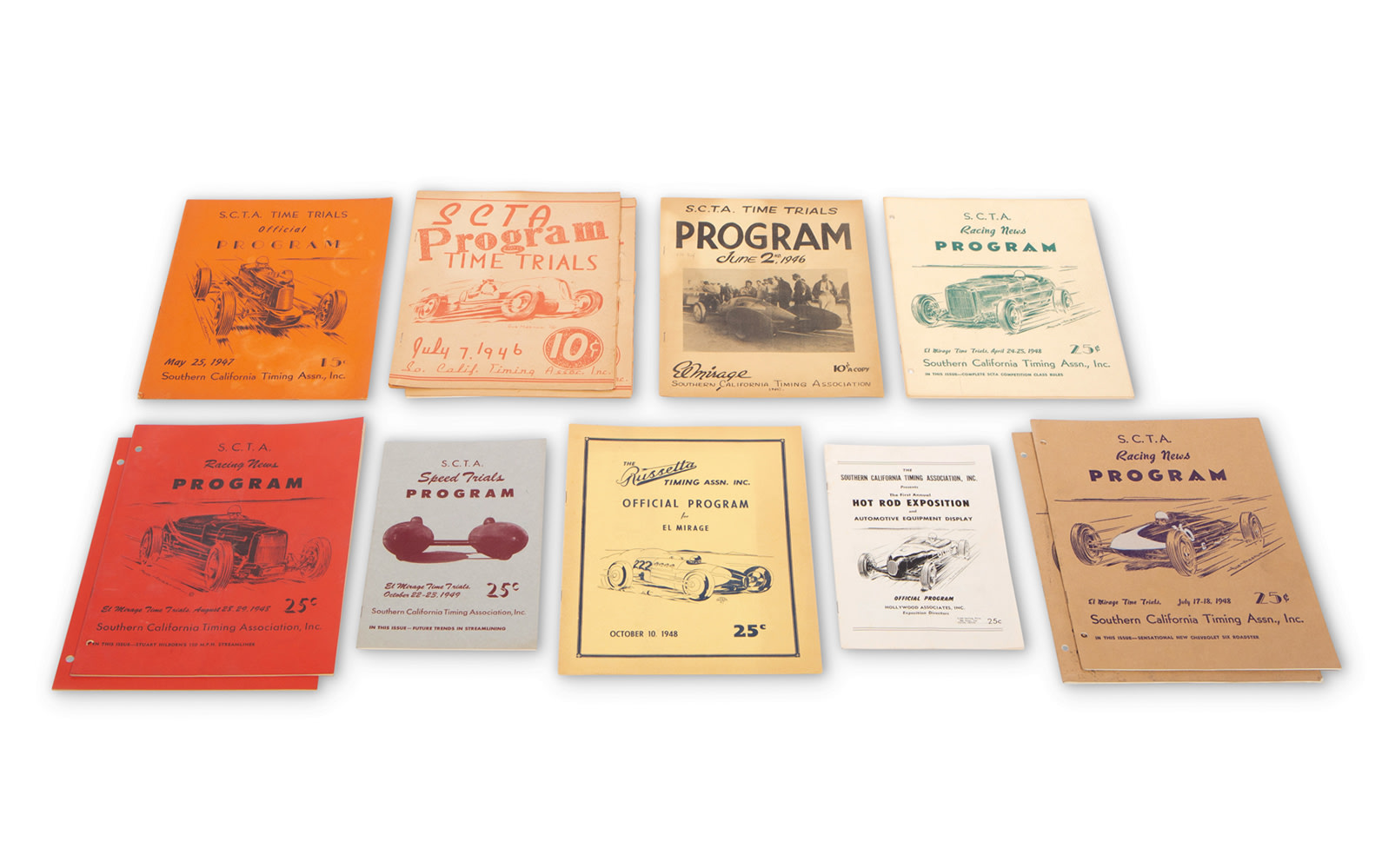 Assorted S.C.T.A. and Russetta Timing Association Time Trial Programs, c. 1946–1948