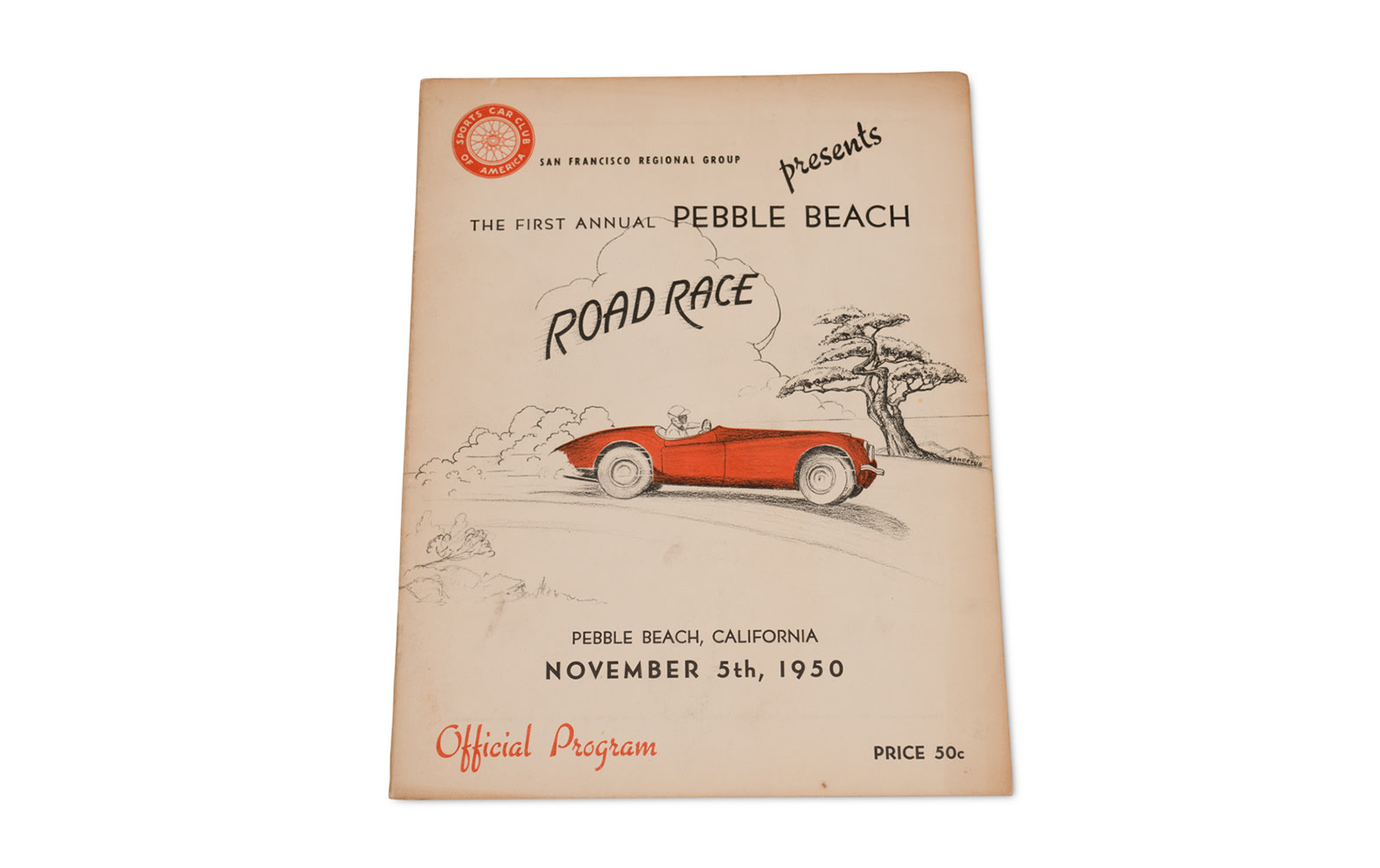 1950 Pebble Beach Road Race Official Program
