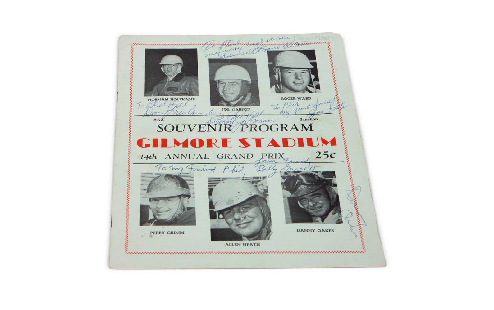 1950 AAA Yearbook with Gilmore Stadium (Autographed) and Carrell Speedway Programs