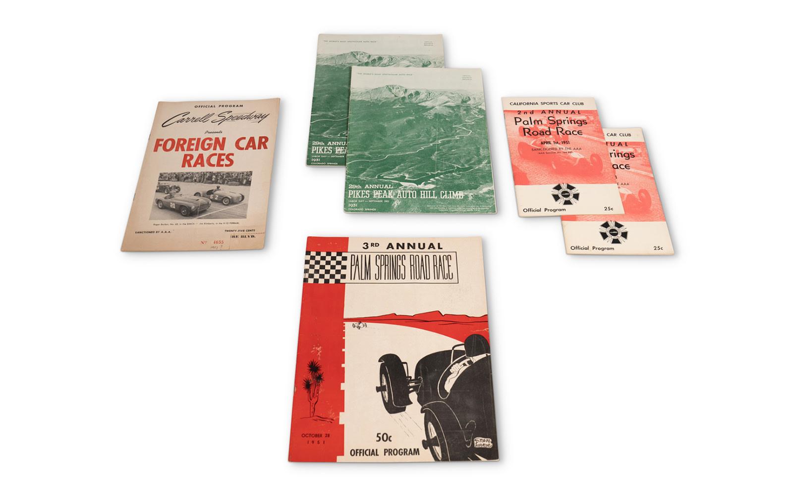Assorted 1951 American Race Programs