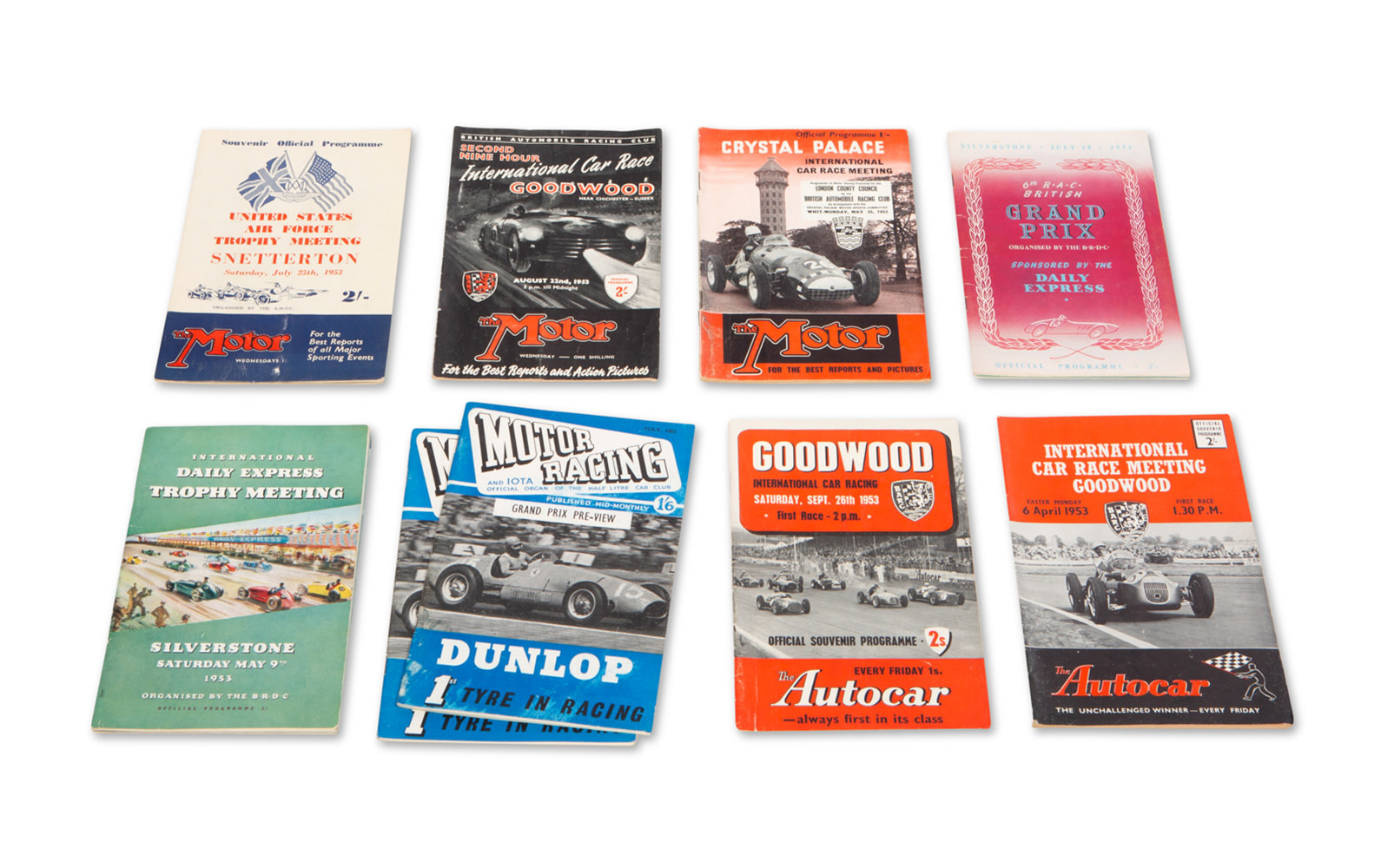 Assorted 1953 British Race Programs