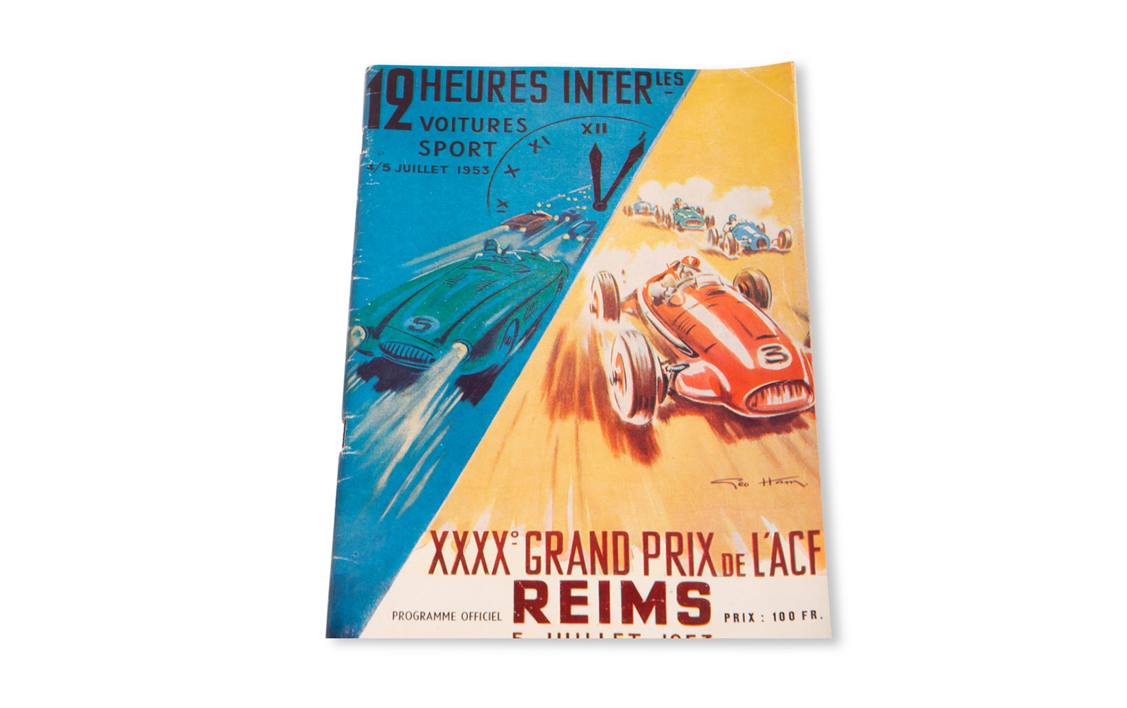 1953 French Grand Prix and Reims 12 Hour Official Race Program