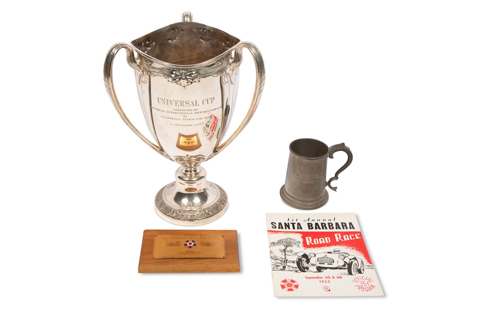 1953 Santa Barbara Road Race Trophies and Race Program
