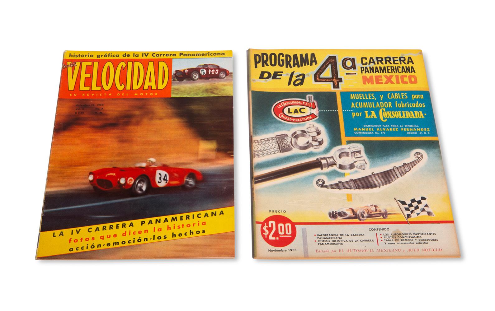 1953 Carrera Panamericana Race Program and Velocidad Magazine