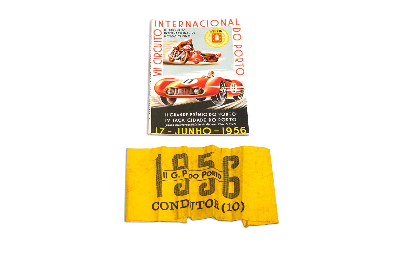 1956 Grand Prix of Porto Official Race Program and Driver Armband