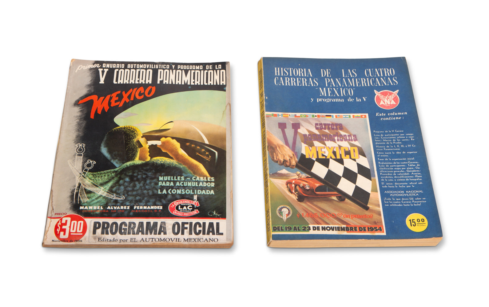 1954 Carrera Panamerica Official Race Program and Event History Book