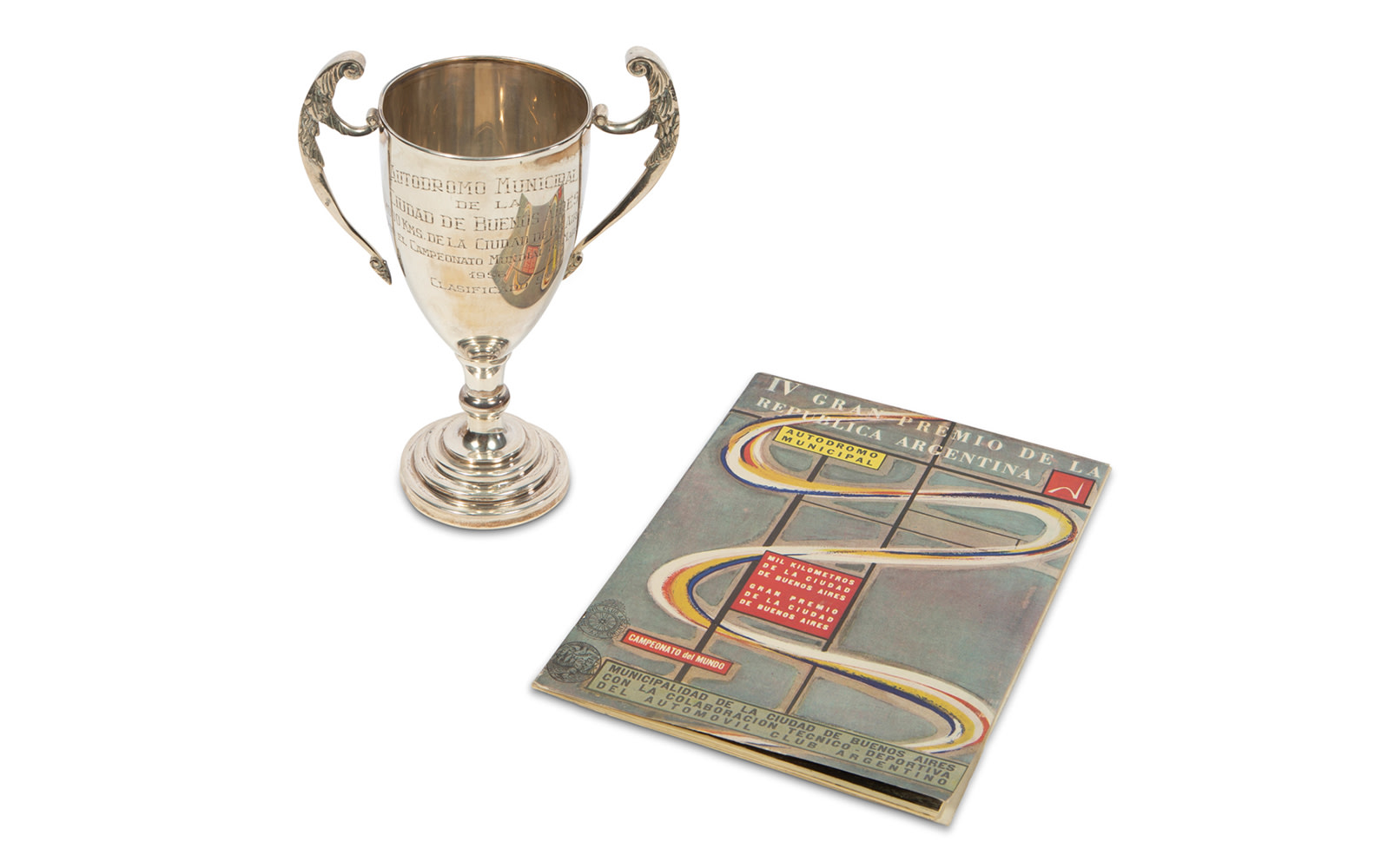 1956 Grand Prix of Argentina Trophy and Official Race Program