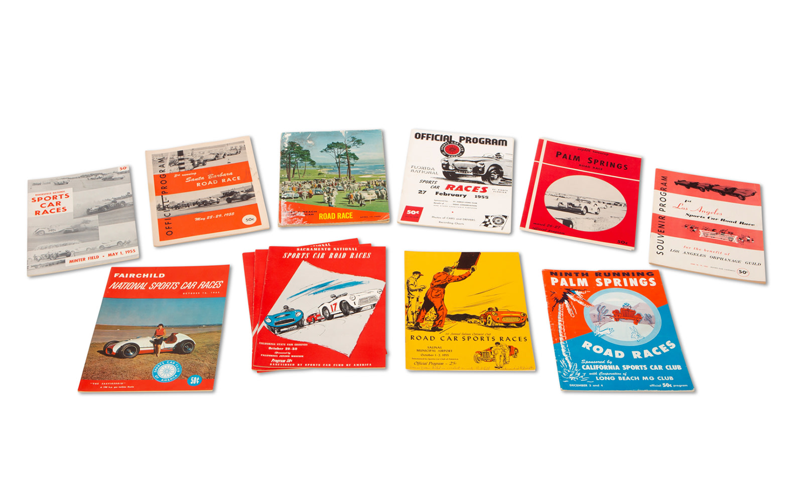 Assorted 1955 American Race Programs