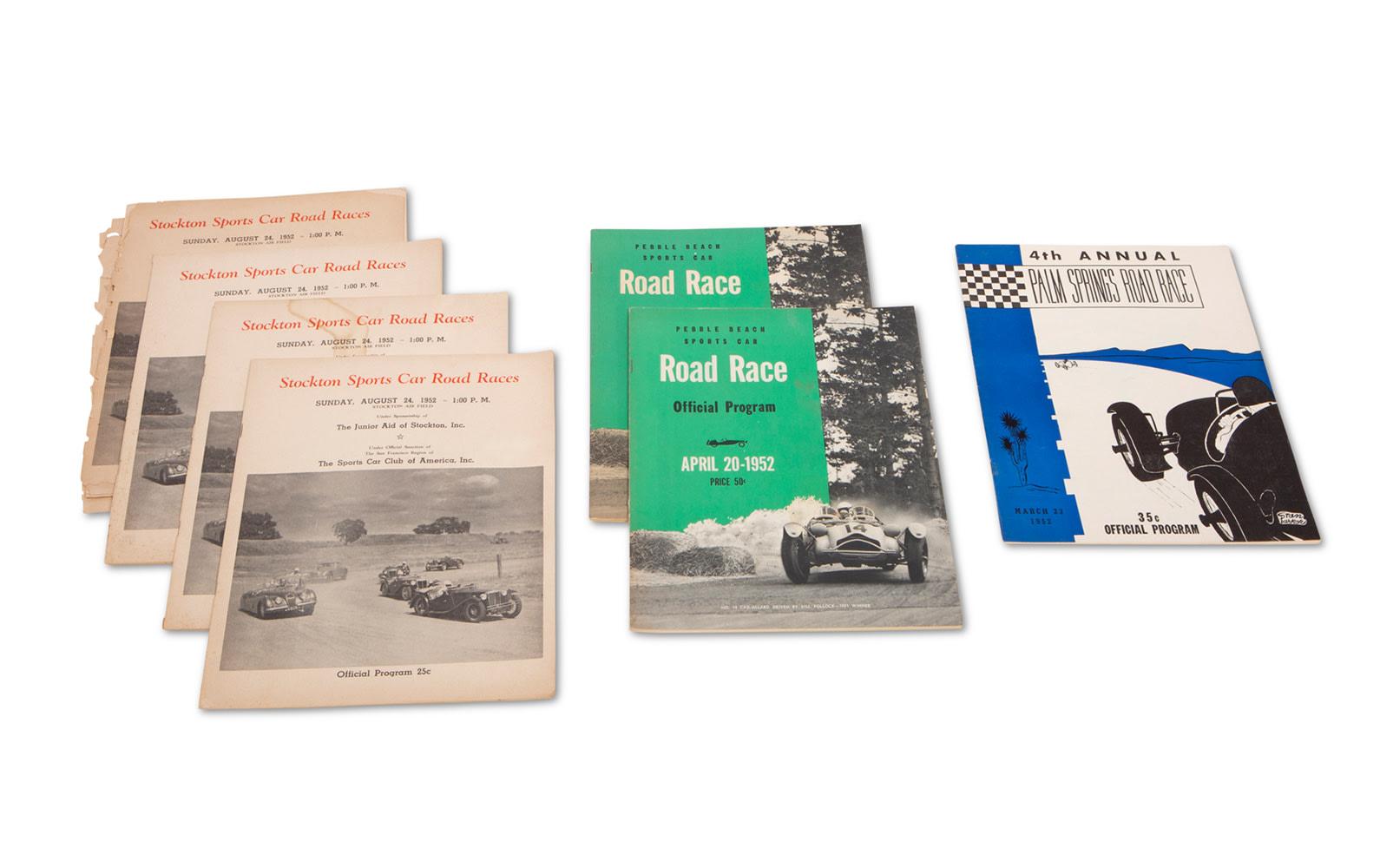 Assorted 1952 American Race Programs
