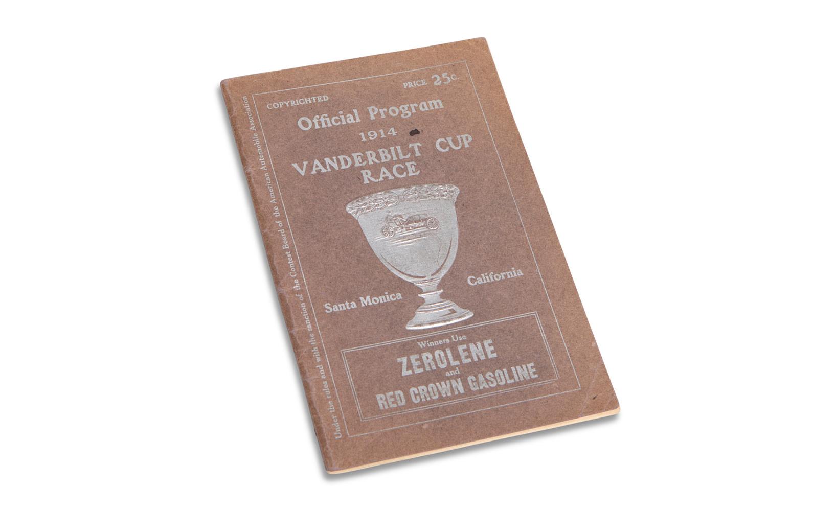 1914 Vanderbilt Cup Race Official Program