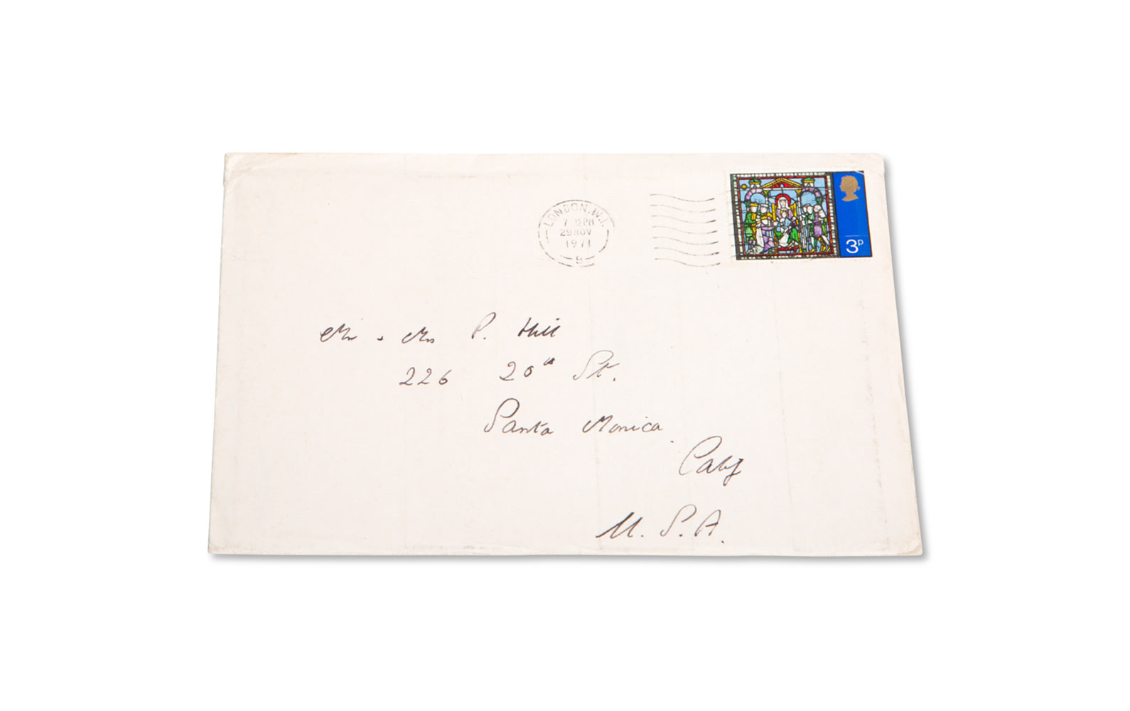 1971 Christmas Card from Stirling Moss to Phil Hill