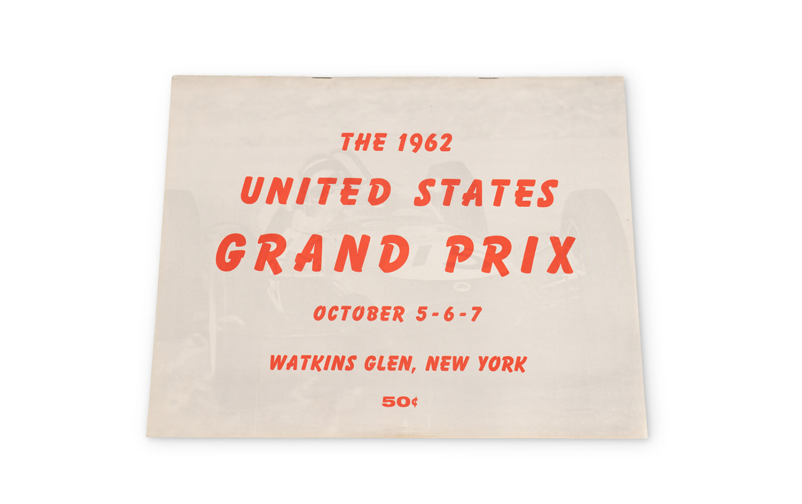 1962 United States Grand Prix Official Race Program